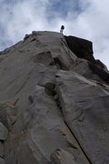 Rock Climbing Photo: Some dude rapping off the Pinnacle