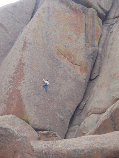 Rock Climbing Photo: Vedawoo 5.12 Slab....No Holds!!!