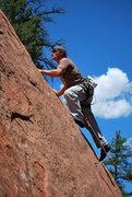 Rock Climbing Photo: Bill on a Colorado trip.