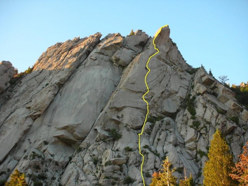 Rock Climbing Photo: Winged Warrior on Middle Bell