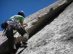 Rock Climbing Photo: Starting the Great Dihedral