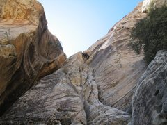 Rock Climbing Photo: John on Pink Tornado Left, p1. Photo by Brett Barr...