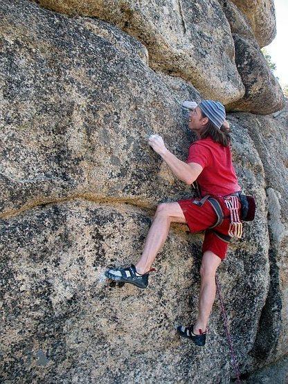 Rock Climbing Photo: Euan eyeing the next hold on Wild Abandon (5.12a),...