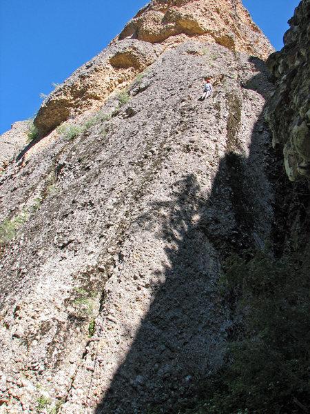 Rock Climbing Photo: Walt heading up pitch 1.