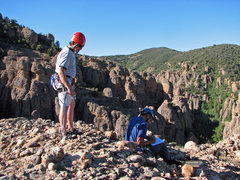 Rock Climbing Photo: Walt and John at the summit.