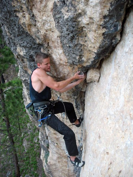 Rock Climbing Photo: Clay Stoner muscles up Vice Gripped.