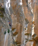 Rock Climbing Photo: Mike Sokoloff, finding it during the second ascent...