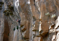 Rock Climbing Photo: Mike Sokoloff during the second ascent.