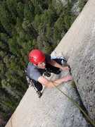 Rock Climbing Photo: Following the stellar crack of pitch 2. This crack...