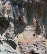 Rock Climbing Photo: Josh J. pulling into it!  Sports action!