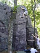 Rock Climbing Photo: Thune near the top.