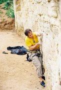 Rock Climbing Photo: AJ at the cruxy knobs