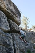 Rock Climbing Photo: Passed the first crux on Wild At Heart