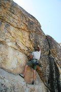 Rock Climbing Photo: Ryan starting the good crux section of Wild Boys.