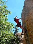 Rock Climbing Photo: Deciphering the sequence on Dick (5.11b), Keller P...
