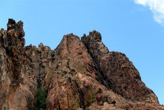 Rock Climbing Photo: Looking up pitch 2.  As suggested, we climbed the ...