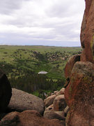 Rock Climbing Photo: The view from the base of Hassler's Hatbox Route--...