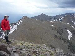 Rock Climbing Photo: On Venable Peak.