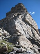 Rock Climbing Photo: The complete initial buttress from just below the ...
