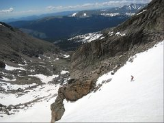 Rock Climbing Photo: Snowy descent.  Photo by Mark Oveson.