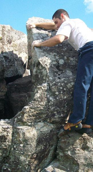 Rock Climbing Photo: entering full-tilt layback mode