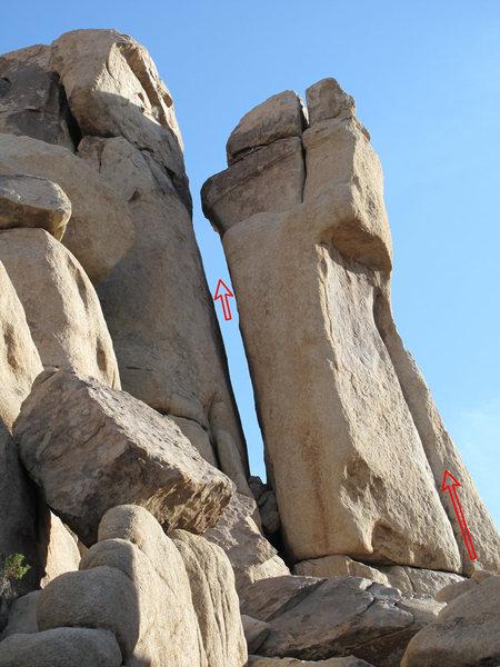 Rock Climbing Photo: Skinny Dip