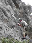 Rock Climbing Photo: Chris works his way up Mario moreno.  The rope to ...