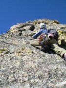 Rock Climbing Photo: Start of the 4th pitch.