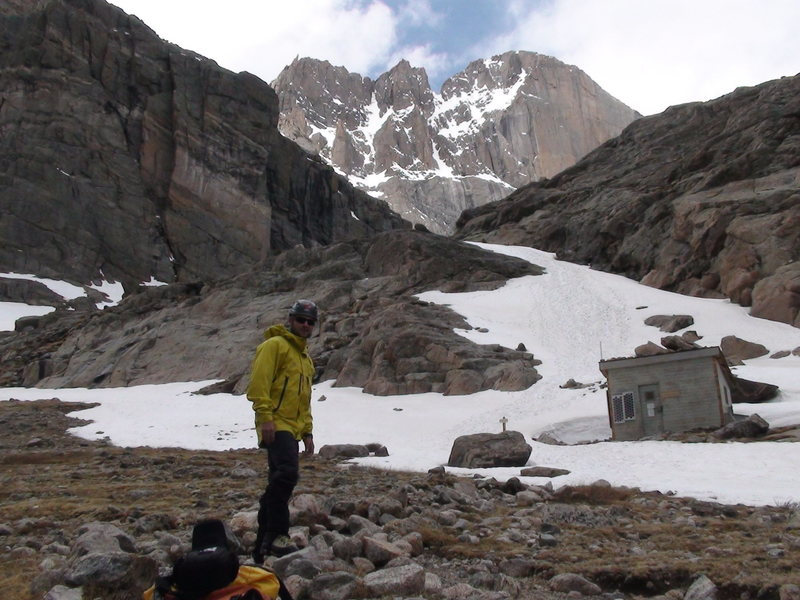 """Long's peak my favorite mountain. Doug scott once said,""""The himalaya's are a good place to train for Long's peak""""."""