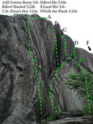 Rock Climbing Photo: A topo of the old side of the crows nest