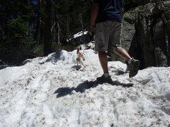 Rock Climbing Photo: plan on being wet... still a little snowy