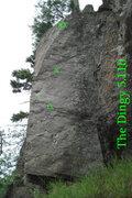 Rock Climbing Photo: The dingys short but sweet arete