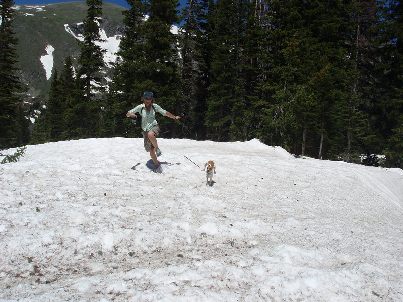 Rock Climbing Photo: playing in the snow