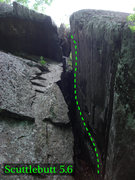 Rock Climbing Photo: the dark chimney of scuttlebutt
