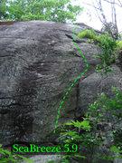 Rock Climbing Photo: sea breeze on the far right end