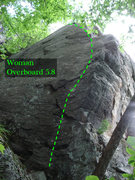 Rock Climbing Photo: woman over board, The arete is harder than it look...