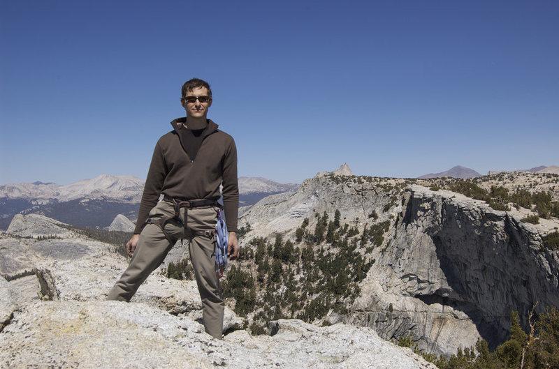 Rock Climbing Photo: Jeff on Tenaya Peak