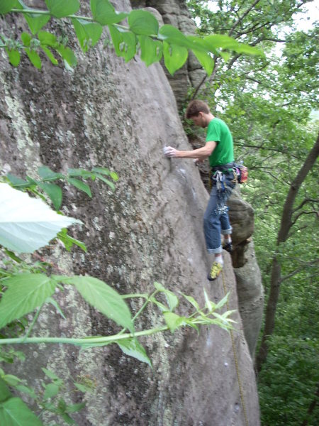 Rock Climbing Photo: On the XL pebble!