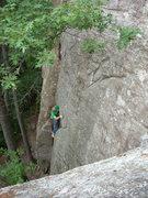 "Rock Climbing Photo: Leading ""Deceptive""."