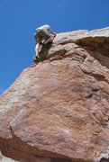 Rock Climbing Photo: Topping out on the Prow