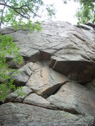 Rock Climbing Photo: Sepsen Wall climbs up to the big notch in the roof...