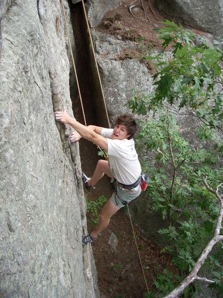 Rock Climbing Photo: Skinny, lovin' it way too much!