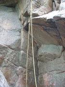 Rock Climbing Photo: Tarantula starts on the left crack system where th...