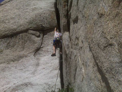 Rock Climbing Photo: The 3rd pitch OW on The Green A
