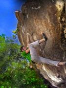 "Rock Climbing Photo: Jason works an open project at ""The Wisdom Wa..."