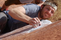 Rock Climbing Photo: Pulling down at big bend.