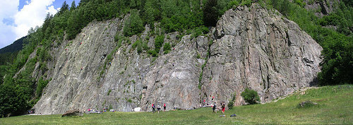 The main crag at Les Gaillands