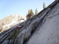 Rock Climbing Photo: The best way to approach is to rap in to the climb...