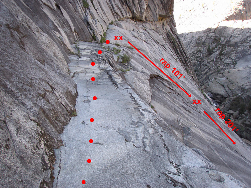 "Rock Climbing Photo: Photo showing the ""cat walk"" prior to th..."