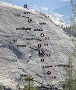 Rock Climbing Photo: To find the start of A Little Nukey (5.9), look fo...